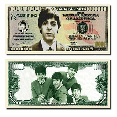 25 Factory Fresh Paul McCartney Million Dollar Bills