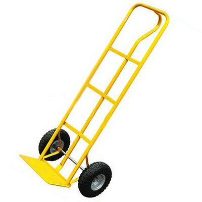 600Lb Heavy Duty Sack Truck Industrial Hand Trolley With Pneumatic Tyre Wheel