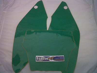 KAWASAKI KX125-250 1994-1995 Precut Number Board Backgrounds Green CHEAP