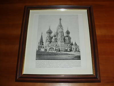 Dated 1892 and over 125 years old Church of St. Basil Moscow Russia x