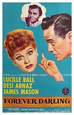 Forever Darling Movie Poster - Lucille Ball Desi Arnaz