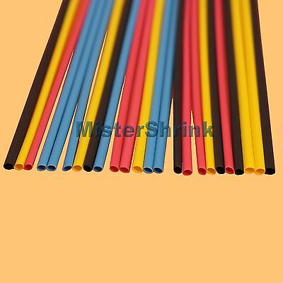 Heat Shrink Tubing 3 mm 4 Colours HeatShrink Sleeve Wrap Tube Kit