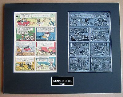Donald Duck Vintage 1963 Printing Plate & Page !