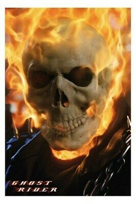 Ghost Rider Movie Poster - Close Up Nicolas Cage 24X36