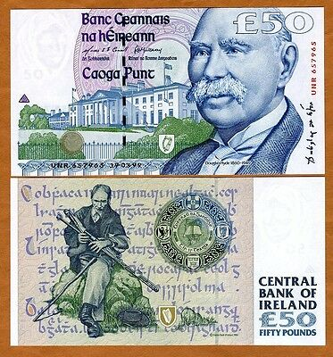 Ireland Republic, 50 pounds, 1999, P-78 (78a), Gem UNC