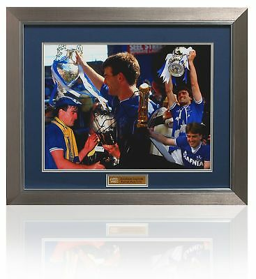 Large KEVIN RATCLIFFE Hand Signed EVERTON cups montage
