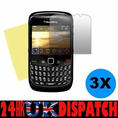 3 x Clear Screen Protector for Blackberry 8520 CURVE