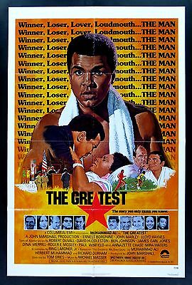 THE GREATEST * CineMasterpieces BOXING MOVIE POSTER 1977 MUHAMMAD ALI