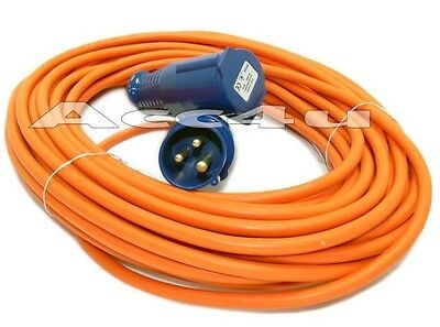 Orange 25m 230v Towing & Touring Caravan Electric Hook Up Lead Extension Cable