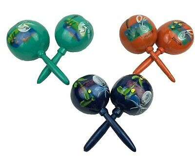 Assorted colors Hand made Mexican Maracas Gourds Pair Rumba Shaker