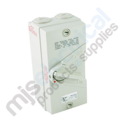 Electrical Switch Isolator 3 Pole / Phase 35A Weatherproof IP66 NEW