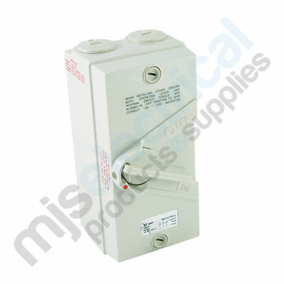 Electrical Switch Isolator 1 Pole / Phase 20A Weatherproof IP66 NEW