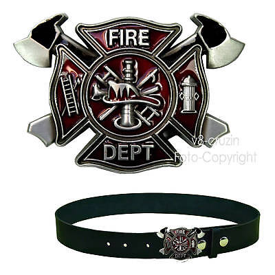 * Firefighter Fire Department Logo Belt Buckle Feuerwehr Gürtelschnalle *236