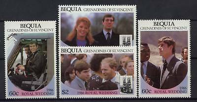 Bequia 1986 Royal Wedding MNH Set