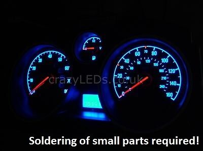 Astra H Zafira B SMD LED speedometer / mileage conversion kit