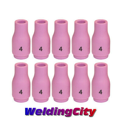 WeldingCity 10 Ceramic Cup Nozzles 13N08 #4 for TIG Welding Torch 9/20/25