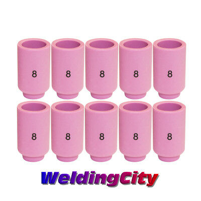 WeldingCity 10 Ceramic Cup Nozzles 13N12 #8 for TIG Welding Torch 9/20/25