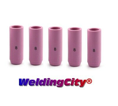 "5 Alumina Ceramic Cup Nozzles 10N46 #8 (1/2"") for TIG Welding Torch 17/18/26"