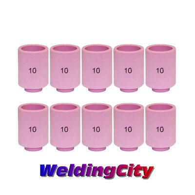 WeldingCity 10 Ceramic Cup Nozzles 13N13 #10 for TIG Welding Torch 9/20/25