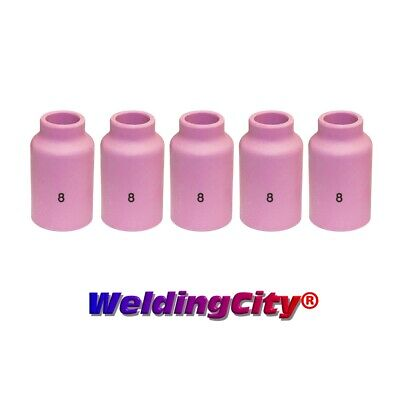 5-pk TIG Welding Ceramic Gas Lens Cup 54N14 #8 Torch 17/18/26 | US Seller Fast