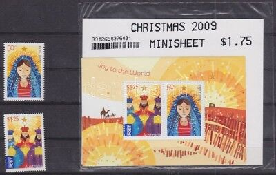 Australia stamp MNH Christmas set + block WS67137