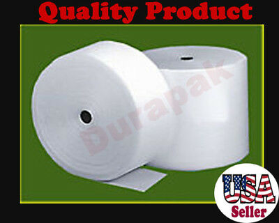 """3/32"""" Thick 12"""" Wide 600 ft Polyethylene Foam Wrap Protective Cushion Wrapping"""