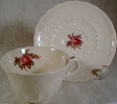 Spode Billingsley Rose Newer Stamp Cup and Saucer