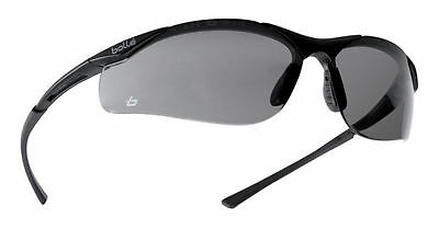 Bolle contour smoke / shaded safety glasses & free microfibre storage pouch