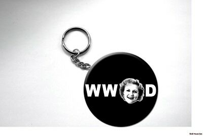 BETTY WHITE Key Chain WHAT WOULD BETTY DO