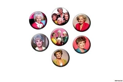 THE GOLDEN GIRLS 7 new Buttons/Magnets