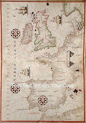 West Europe British Isles UK Reproduction Antique Old Colour Large Map Plan