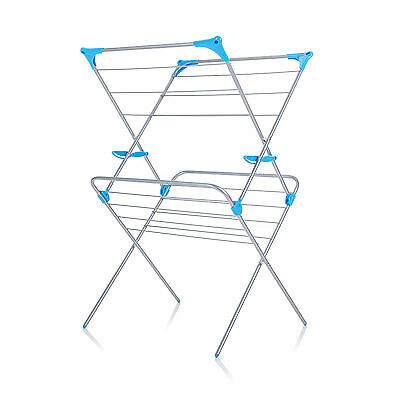 Minky 2 Tier 10m Indoor Concertina Clothes Airer Dryer White FREE P&P