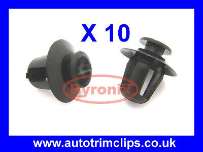 Citroen Saxo Wheel Arch / Front Wing Trim Clips X10