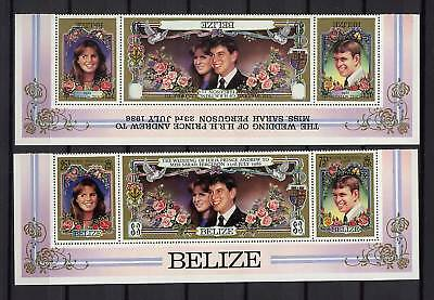 Belize 1986 Royal Wedding Text Inverted Error