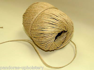 FLAX TWINE * LAID CORD PER METRE UPHOLSTERY USE SPRING TWINE FREE POSTAGE