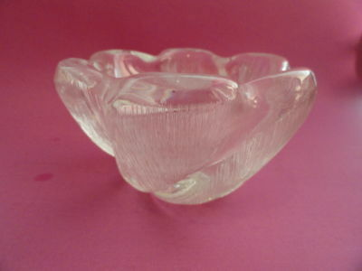 SIGNED Edvin Ohrstrom ORREFORS CRYSTAL BOWL F-4160/111