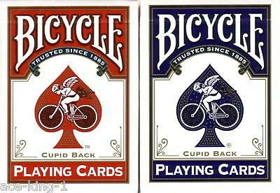 2 Decks Bicycle CUPID red blue gold Playing Cards poker