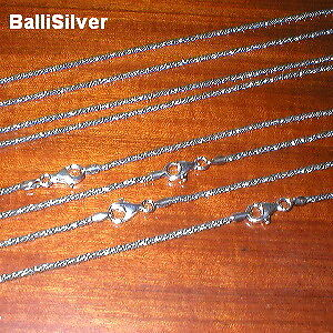 3 St. Silver OXIDIZED 2mm Round Twisted FOXTAIL CHAINS