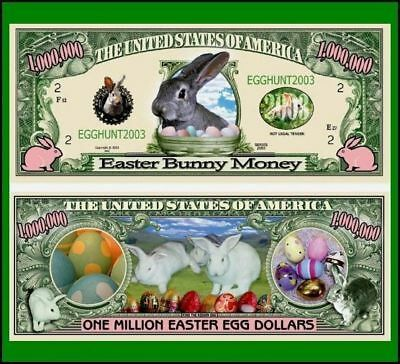 5 Factory Fresh Novelty Easter Bunny Million Dollar Bill