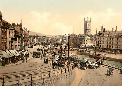 Large Old Photograph / Photo Of Bristol