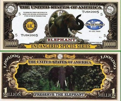 100 Factory Fresh Elephant Million Dollar Bill