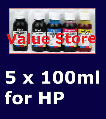 5x 100ml (2x Bk) for HP 564, HP 564XL Black and colours
