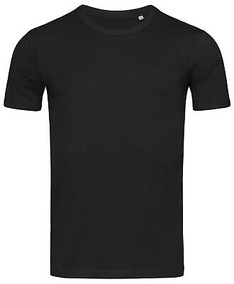 Hanes Stedman Body fit Plain BLACK Slim Fit Tee T-Shirt Tshirt No Logo