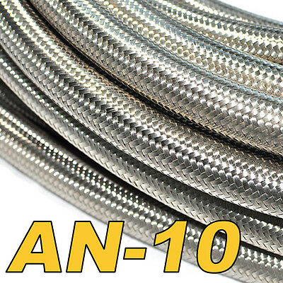 Stainless Steel Braided Hose (AN-10) Fuel/Oil/Water