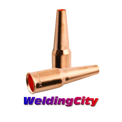 WeldingCity 2 Nozzles 24AT-37SS for Tweco Lincoln 200-400A MIG Welding Gun
