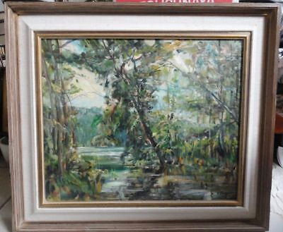 Large Impressionist Masterpiece Painting Signed N. Blazev