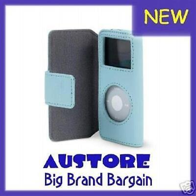 Belkin Ipod Nano 1G 2G Leather Case F8Z058-Blu Blue New