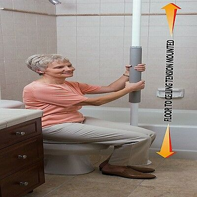Room / Bed Stander Security Tension Mounted Floor to Ceiling Grab Pole STD1150W
