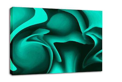 GREEN ABSTRACT CANVAS PICTURE WALL ART PRINT framed A2