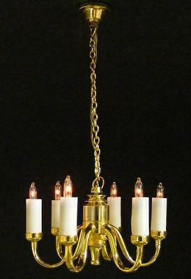 1:12 Scale 12 volt 6 Light Candle Chandelier
